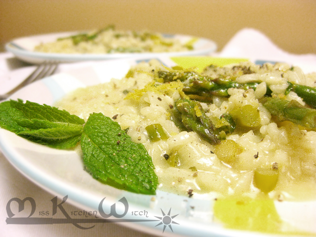 Asparagus Risotto with Lemon and Mint