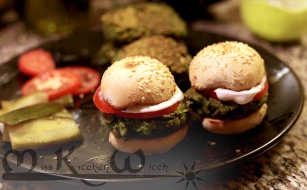 Emerald Pesto Burgers