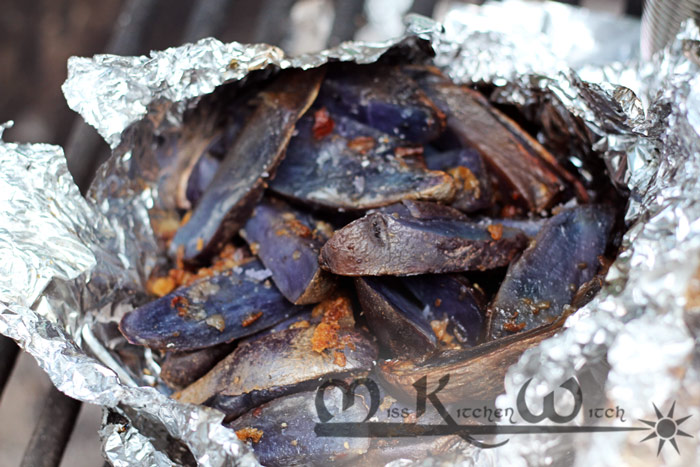 Smokey Campfire Peruvian Potatoes with Onion Crunch
