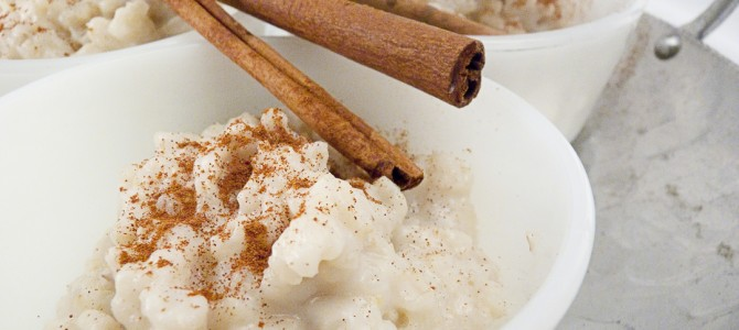 Vegan Spanish Rice Pudding