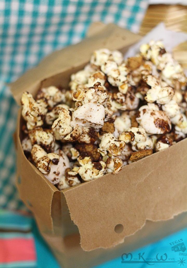Ooey-Gooey Vegan S'mores Popcorn