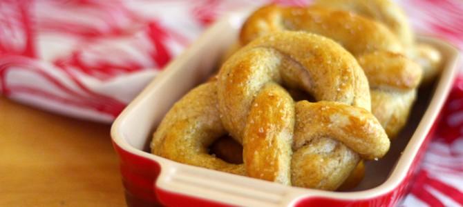 Vegan Soft Baked Rye Pretzels
