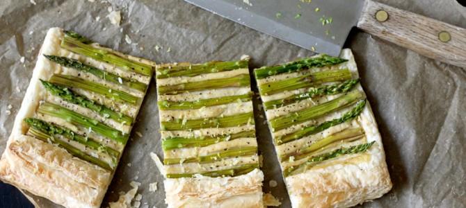 Vegan Asparagus Gruyére Cheese Tart