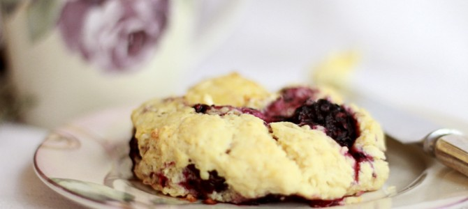 Vegan Blackberry Buttermilk Scones