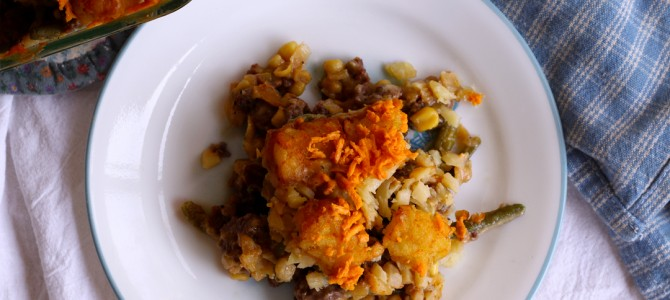 Retro Recipes: Vegan Tater Tot Casserole